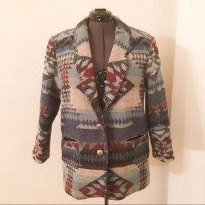 Coldwater Creek Southwest Aztec Native Jacket